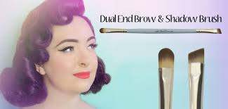 dual end brow brush for vintage make-up looks