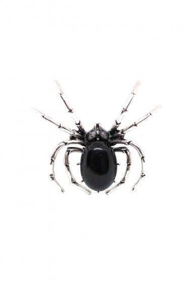 Collectif black spider brooch