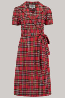 tartan wrap dress