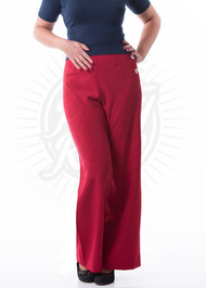 red, swing pants