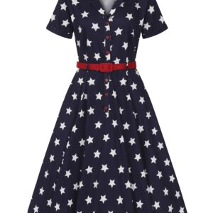 Collectif Mainline Caterina Stars Swing Dress